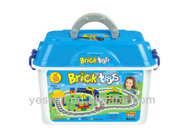 Battery Operation Railway truck blocks with music(123pcs)