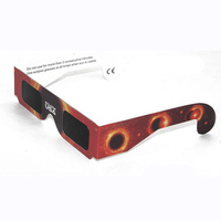 ISO certificated paper solar eclipse 3d glasses