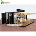 DIY hydraulic opening mobile container coffee shop kiosk with restaurant furniture design