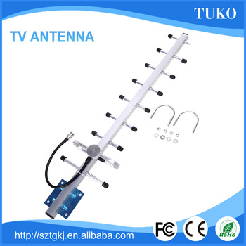 18DB high gain uhf outdoor digital tv antenna with N connector