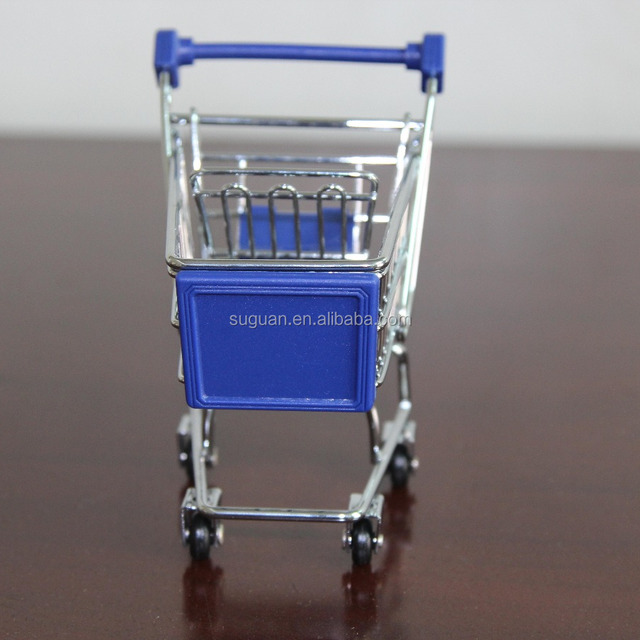 suguan chrome plated kids mini portable shopping cart / grocery metal wire shopping trolley