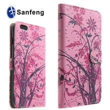 OEM wholesale mobile phone leather Case For iphone 6S,premium flip wallet case