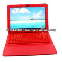"Slimbook PU Leather Bluetooth Keyboard and Protective Case for Samsung Galaxy Tab 7.7"" Plus P6800 P6810 - Red -"