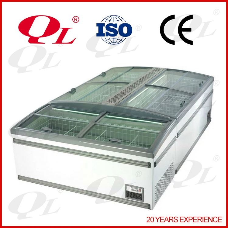 6.5ft Open Front Chiller guangzhou factory supermarket fresh meat showcase