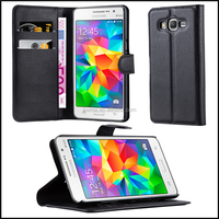 Premium Wallet Leather Moblie Phone Case Cover for Samsung Galaxy Grand Prime