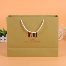 Most popular different patterns brown paper bags with handles