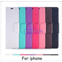 Book Wallet Leather Case Cover Credit ID Card Holder Stand Cell Phone Case for iphone 4 4S 5 5S 5C 6 / 6 Plus