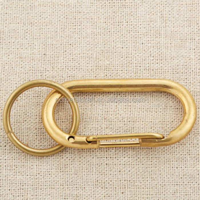 Chinese Suppliers Solid Brass Carabiner Clip Hook Keychain Accessory