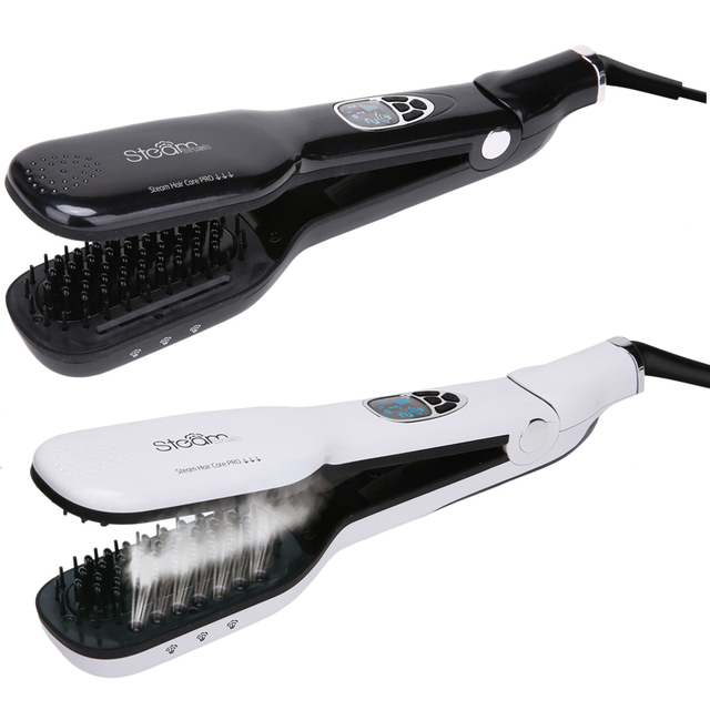 Factory Price Salon Styling tools Steam Machines Iron hair straightener Brush