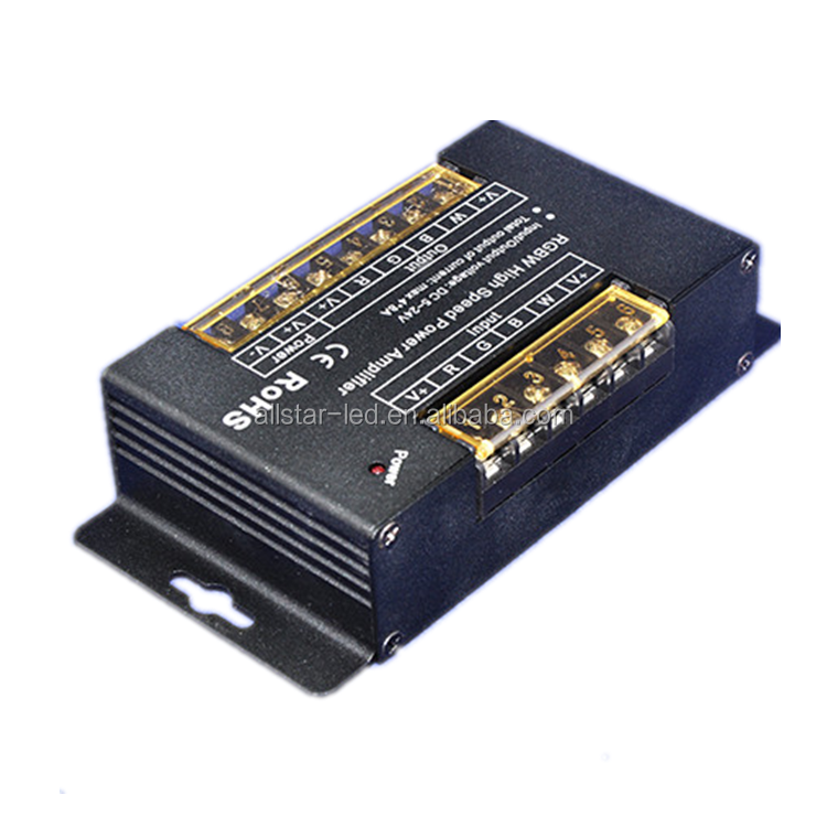 High Speed RGBW amplifier DC5V-24V pwm dimming signal max output 768W Large Current 32A Power Amplifier for RGBW Strip