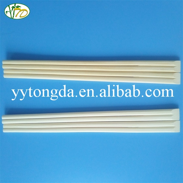 Factory hot sell 24cm disposable flat bamboo chopsticks