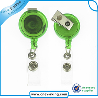 badge reel type retractable key chain for custom