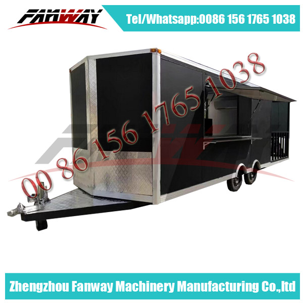 Custmed Large Space Mobile Food Truck/Food Catering Trailer/Ice Cream Cart With Generator