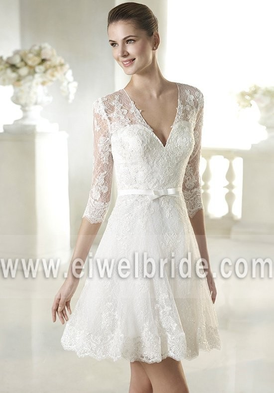 Sexy V Neck Short Lace Wedding Dress Patterns Imported From China