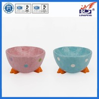 Ceramic easter egg cups,ceramic chicken egg holders/storage with chick feet base