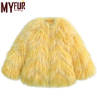 New Developed Warm Faux Tibet Lamb Fur Coat For Women