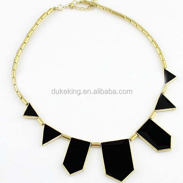 Wholesale Chunky Statement Necklace with Black Enamel