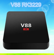 V88 RK3229 1g 8g smart tv box android 5.1 kodi 16.0 set top box in stock now