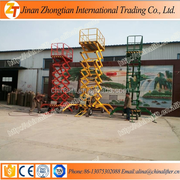 Insulated truck mount aerial platform mobile scissor lift hydraulic elevator