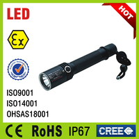 IP67 LED Explosion proof Torch Flashlight Rechargeable Led Flash Light, Ex-proof Led Torch Light for Sale