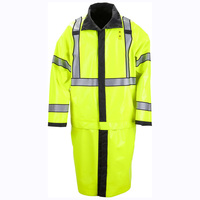 Hot Selling Low Price OEM Factory Hi Vis Adult Long Folding Reflective Safety Raincoat