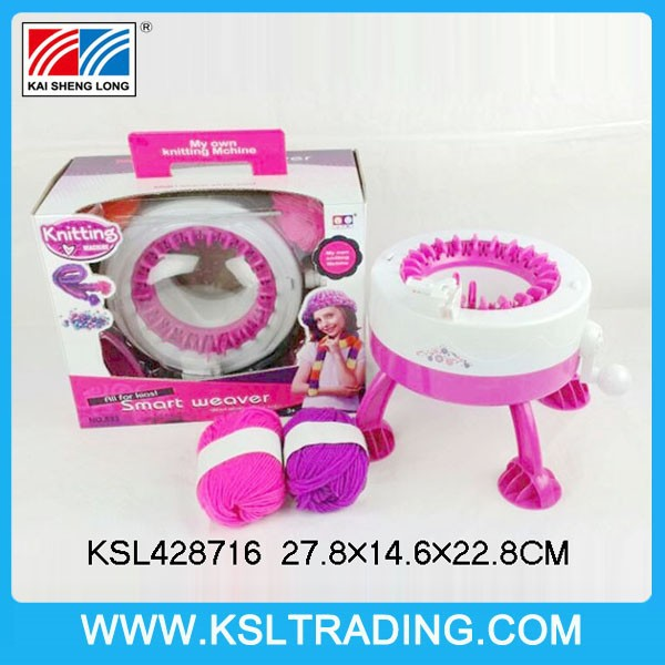 hot selling diy scarf/cap wool weaving machine toy for girl