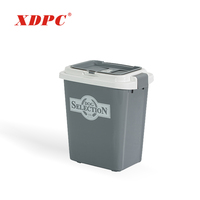 Wholesale 20l 10kg plastic animal pet cat dog food storage bin container barrel box with lid