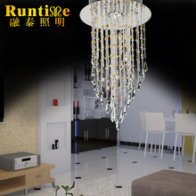 2016 New Style Decoration for living room,bedroom,hall with 1 GU10 Lights Clear Mini Crystal Pendant Lamp Model RT1415-1