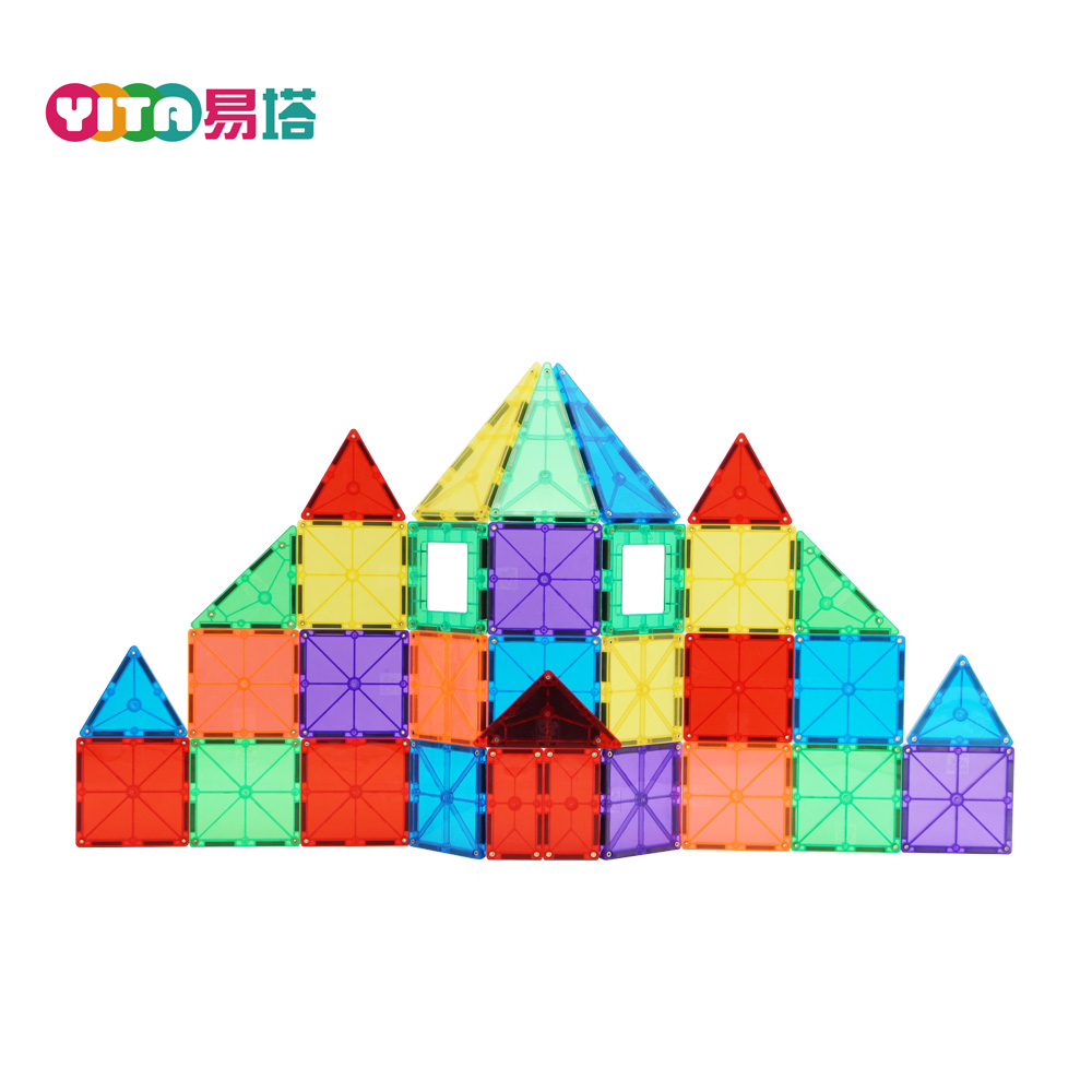 Custom Made Block Toys Christmas Gift 118PCS Set Magnetic Building Shapes Toy Blocks for Kids