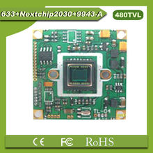 "(PAL) 1/3"" SONY CCD Color Video CCD Security Camera Board 633+nextchip2030+9943 with OSD 480TVL Resolution, Auto-gain Control"