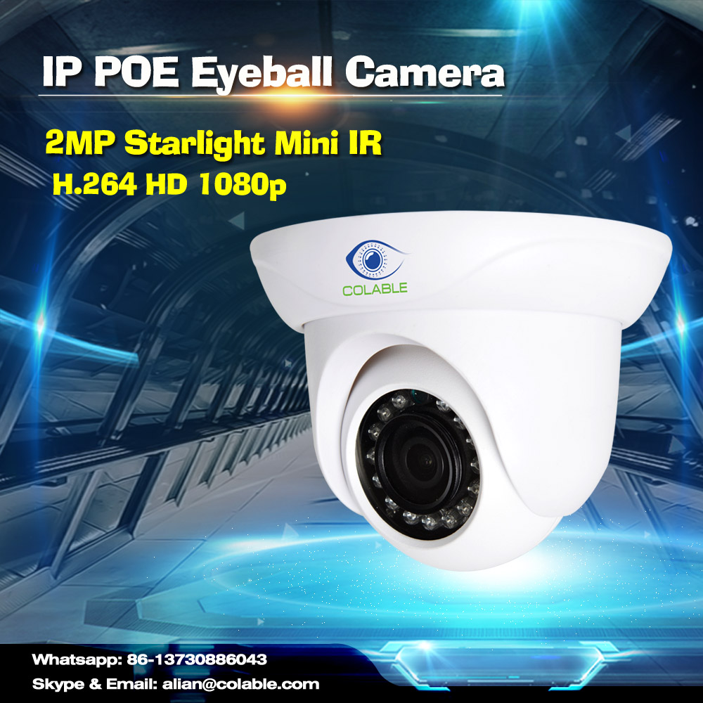 2016 starlight mini ir ip cctv dome camera with audio function for security industry