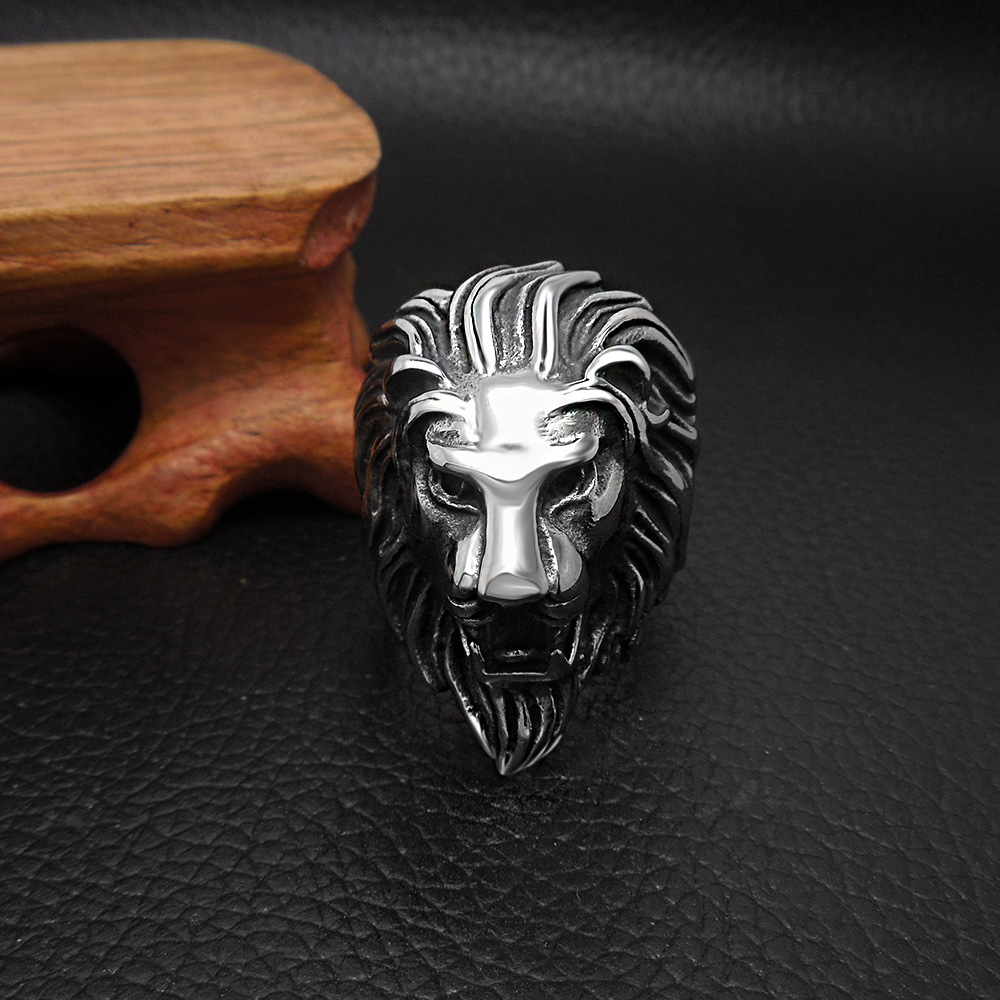 Restore ancient ways jewelry wholesale, domineering lion ring, titanium steel casting the lion ring YSS745