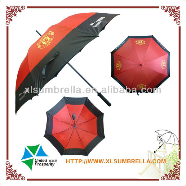 "27"" Funny golf advertising fiberglass umbrella trump umbrella"