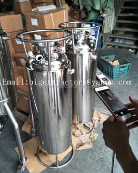SS304 Sanitary 5mm Thickness Jacketed Spools Solvent Tanks With Coil
