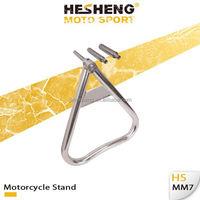 Aluminium Dirt Bike Triangular Stand Tri-Moto Stand Size Silver Hard Coat(HS-MM7)