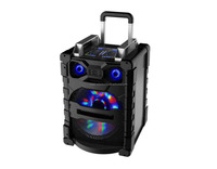 pa speaker system portable speakers with Bluetooth, light,Mic,karaoke, subwoofer with Certifications