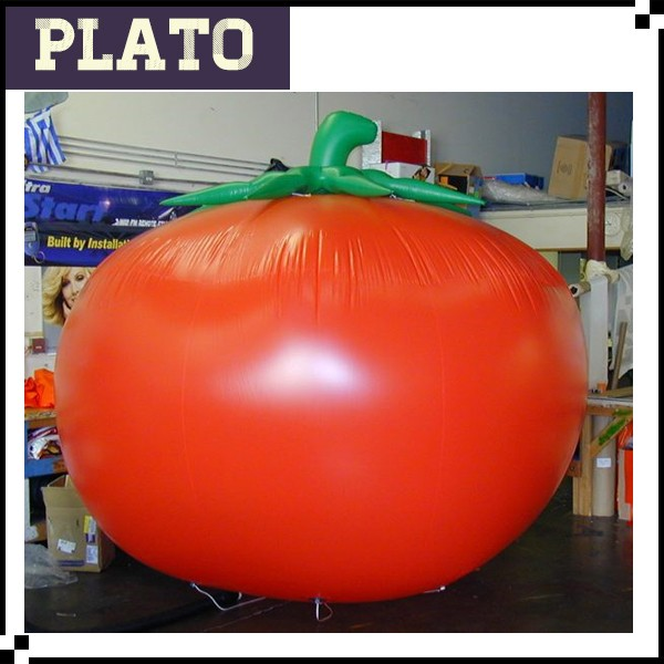 Air blown Ground Stand Tomato Giant Inflatable Tomatoes Inflatable an apple of love