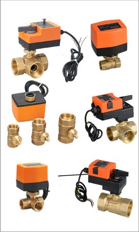 2 way DN 50 electric 3 way flow control brass ball valve
