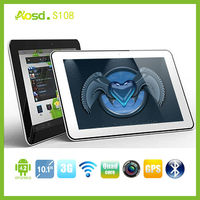 Top good 3g phone tablet 10 inch tablet android fm transmitter bluetooth gps S108.