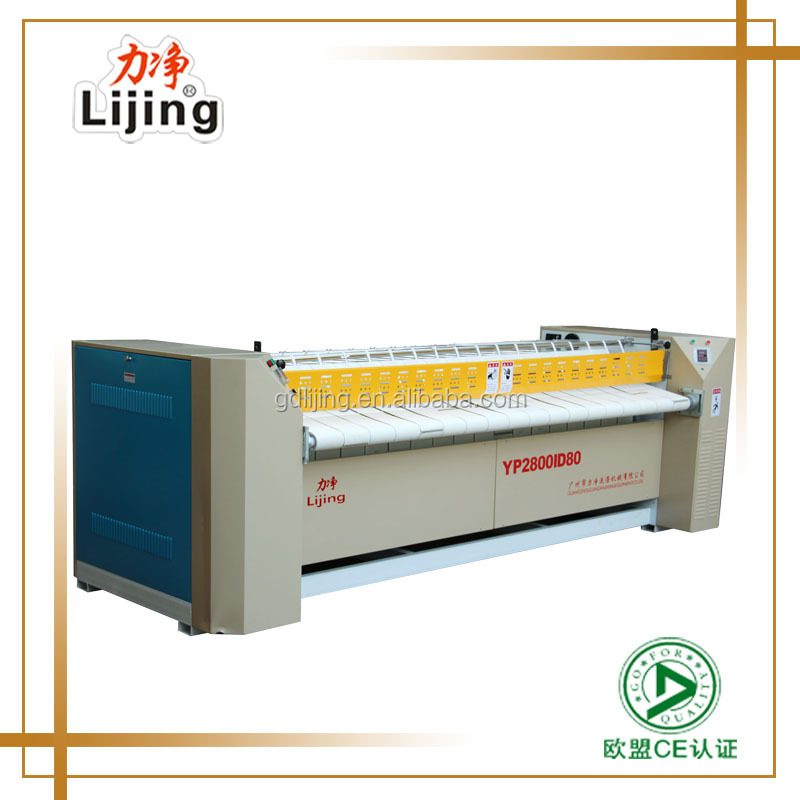 CE Industrial Electric/ Steam heated Laundry Flatwork Ironer For Hotel