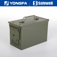 .50 Cal Metal Bullet box Ammo box for gun safe