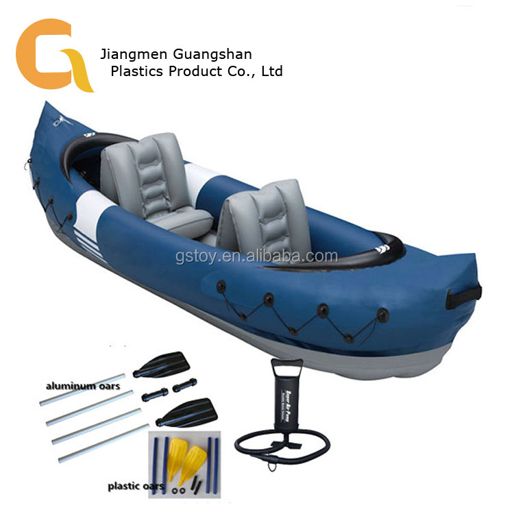 Heavy duty kayak plastic inflatable fishing canoe