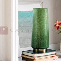 New Collection Casamotion Green Art Glass Decoration Centerpiece Vase