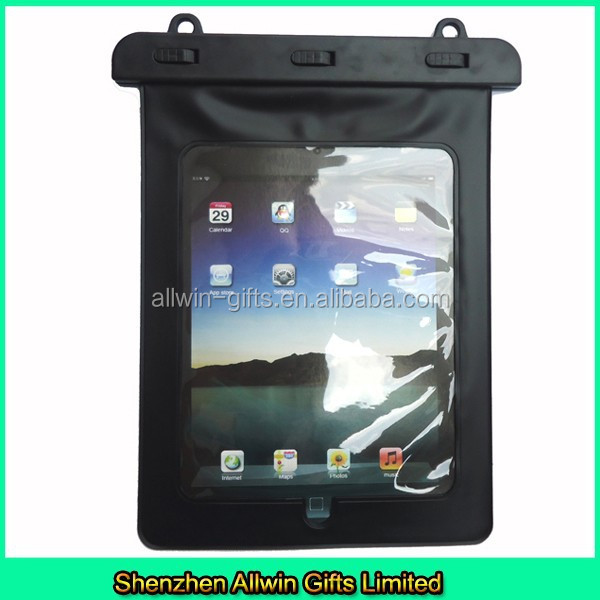 Black tablet pc pouch clear waterproof pouch for swimming
