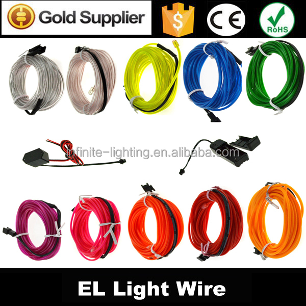 2014 new year hot sale item el wire sewable for clothing decoration/multi color el wire wholesale