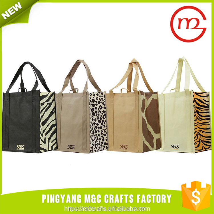 Graphic Pattern Animal Print Reusable Unique Foldable Tote Shopping Bag