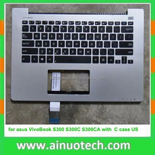 laptop C case with keyboard for asus VivoBook S300 S300C S300CA with C case US version