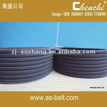 Rubber v belt OEM 7PK1820,7PK2215,CR,EPDM,HNBR, auto fan belt v ribbed belt