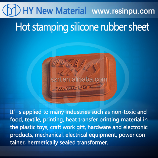 Hong Ye Transfer Printing Stamping Silicone Rubber Sheet for sale