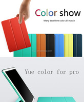 Hot New Product Folding Stand Leather Tablet Cover Case for iPad Pro, For Apple iPad Pro 12.9 Inch Case Smart
